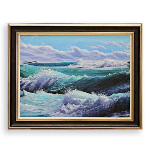 Seascape, Oil Painting by Rosen Poptomov