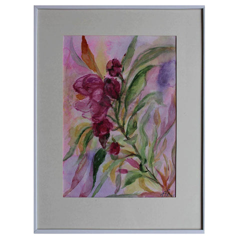 Oleander, Watercolor Painting by Ani Georg