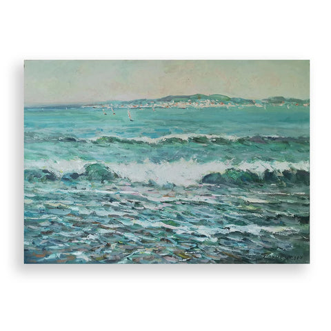 Sea Near Corsica, Oil Painting by Georgi Paunov