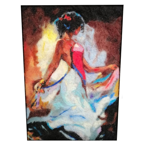 Dance, Wool Textile Painting 11x15 in / 27x37 cm