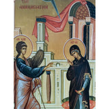 "Annunciation, Christian Icon 8x6"" (21x15cm) - Artastate"