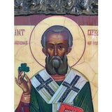 """Saint Patrick"" Christian Icon 10x8"" (24x20cm)"