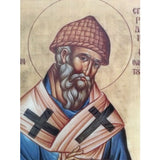 """Saint Spyridon"" Christian Icon 8x6"" (21x15cm)"