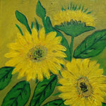 Sunflowers, Acrylic Painting 13x11 in / 32x27 cm