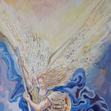 Archangel Michael's Victory, Acrylic Painting by Veselin Nikolov