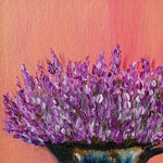 Lavender and Rust, Acrylic Painting by Elena Milanova
