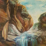 "The Waterfall of Desires, Oil Painting 18x32"" (45x80cm)"