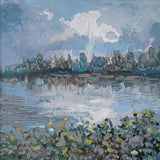 Landscape with River, Acrylic Painting by Veselin Nikolov