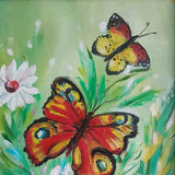 "Butterflies, Oil Painting 14x8"" (36x21cm)"