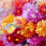 Chrysanthemums, Oil Painting 26x16 in / 65x40 cm