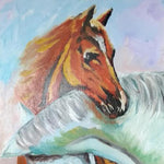 "Horses, Mixed Painting 16x22"" (40x55cm)"
