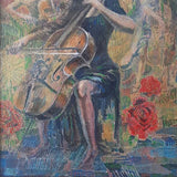 Cellists, Acrylic Painting by Veselin Nikolov