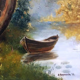 A Boat in the Woods, Oil Painting by Elena Velichkova