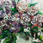 "Roses, Acrylic Painting 14x14"" (35x35cm)"