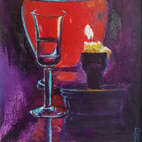 Still life with a Candle, Oil Painting by Rumyana Hristova