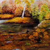 "Golden Autumn, Oil Painting 20x16"" (50x40cm)"