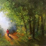 Forest Path, Oil Painting by Elena Velichkova