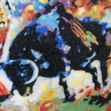 Bullfighting, Wool Textile Painting 18x14 in / 46x36 cm