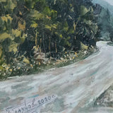 On the Road, Oil Painting by Georgi Paunov - Son