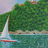 "Boat, Oil Painting 13x15"" (33x39cm)"