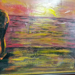 "Passion of the Sunset, Mixed Painting 18x26"" (45x65cm)"