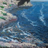 Sozopol Beach, Acrylic Painting by Veselin Nikolov