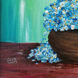 Cosiness in Blue, Acrylic Painting by Evelina Milanova