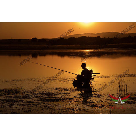 Fisherman, Digital Photo - Stock Image
