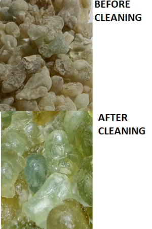 Clarification on CLEANING OF RESIN.