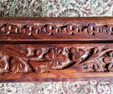 Floral Carved Wooden Box - Wild Tree Essentials