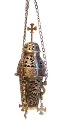 "Church 15"" Hanging Brass Burner - Wild Tree Essentials"