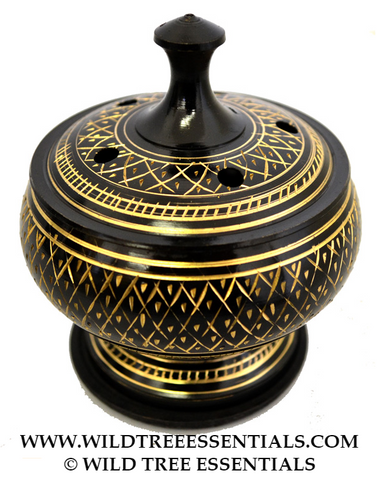 Persian Brass Charcoal Charcoal Burner - Wild Tree Essentials