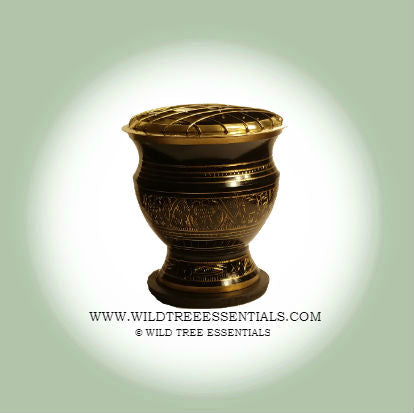 Egyptian Brass Screen Charcoal Burner - Wild Tree Essentials