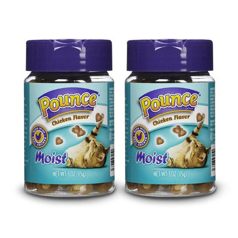 Pounce Moist Chicken Cat Treats, 3 oz (Pack of 2)