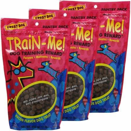 Cardinal 3 PACK Crazy Dog TrainMe Treats Bacon Flavor (3 lb)