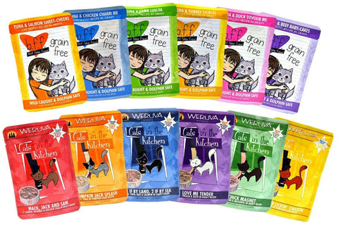 Weruva Cats in the Kitchen / Best Feline Friend Grain Free Cat Food Variety Pack - 12 Great Flavors - 3 Ounces Each