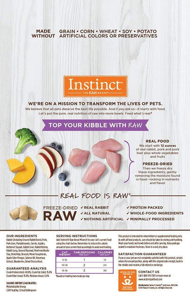 Instinct Freeze Dried Raw Boost Mixers Grain-Free Cat Food Topper Variety Pack (1) Chicken (1) Rabbit