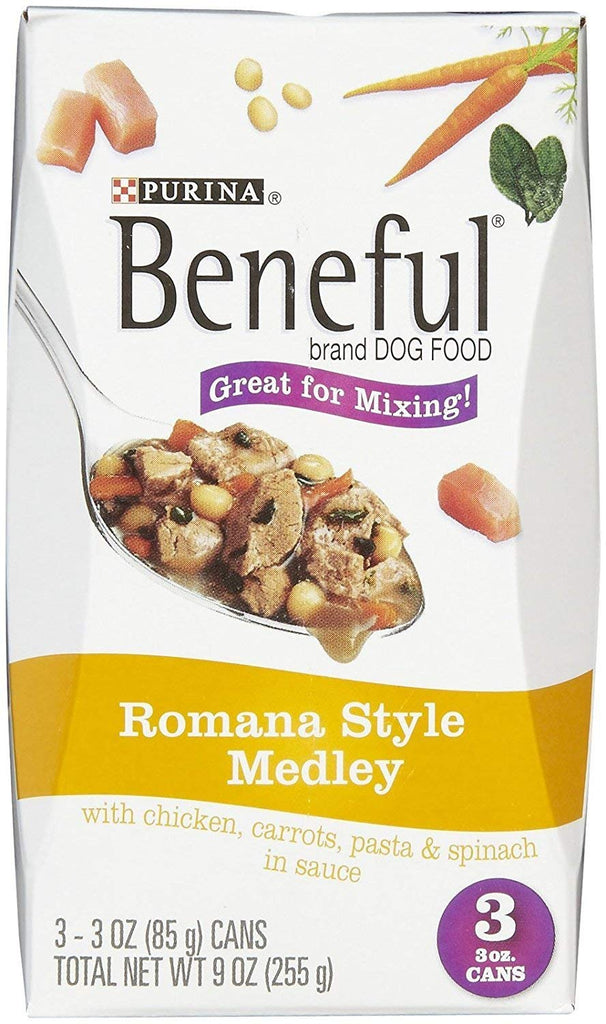 Beneful Romana Style Medley Dog Food with Chicken; 8-Pack (24 3-oz.cans)