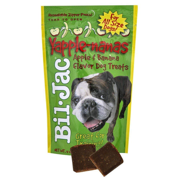 Bil-Jac Treats Combo Pack - Peanut Butter Nanas Dog Treats 4oz, Liver Treats 4oz, Yapple-Nanas 4oz, and Little Gooberlicious 4oz