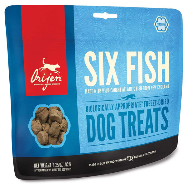 Orijen Six-Fish Freeze-dried Treats 3.25 Oz