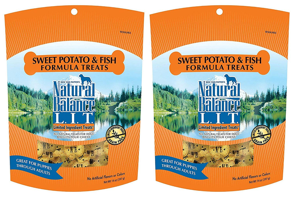 Natural Balance L.I.T. Sweet Potato and Fish Formula Dog Treats 28 ounce (2-pack 14 ounce each)