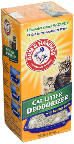ARM & HAMMER Cat Litter Deodorizer Powder with Baking Soda, 20oz