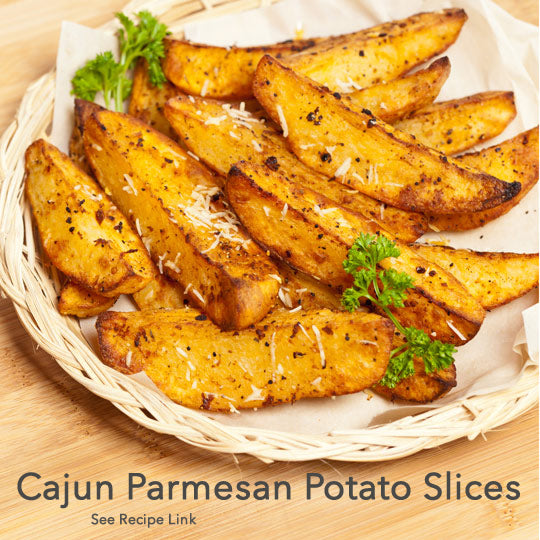 Cajun Parmesan Potato Slices Recipe Photo
