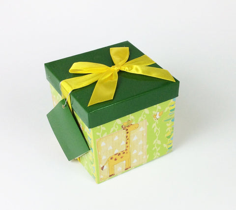 Gifting Set - Medium-Small, Green with Giraffe