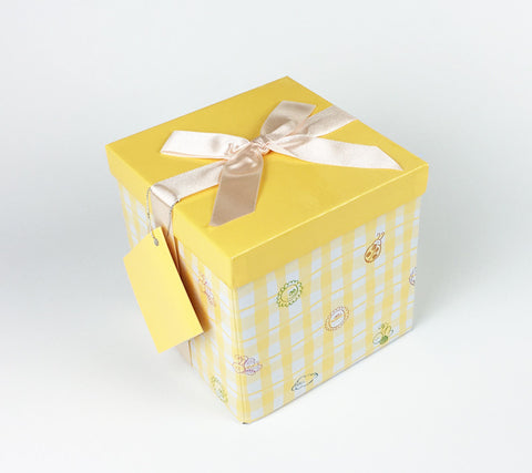 Gifting Set - Medium, Yellow with Yellow Gingham, Fun Bugs and Flowers