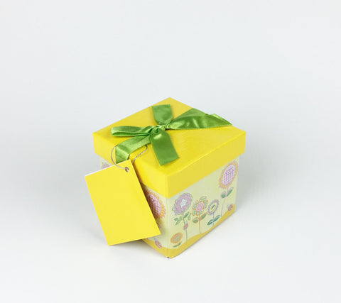 Gifting Set - Small, Yellow with Retro Flowers