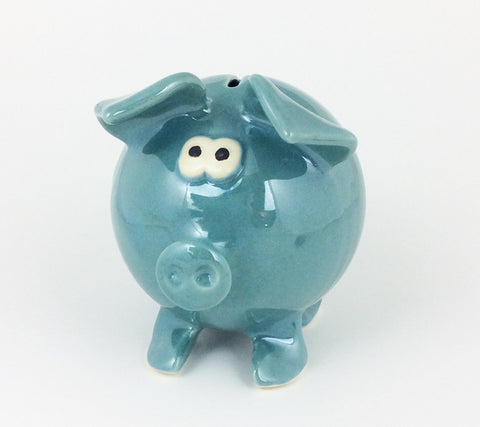 Handmade Piggy Bank - Blue
