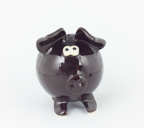 Handmade Piggy Bank - Brown