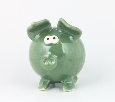 Handmade Piggy Bank - Green