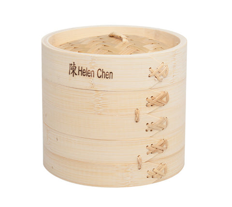 "Bamboo Steamer, small 6"" wide."